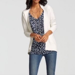 CABI Day Sweater Open Front Slouch Cardigan